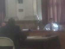 Alderman Antonio French (right) and the rest of the Public Safety Committee picked apart Bryson's testimony for more than two hours. - ALBERT SAMAHA