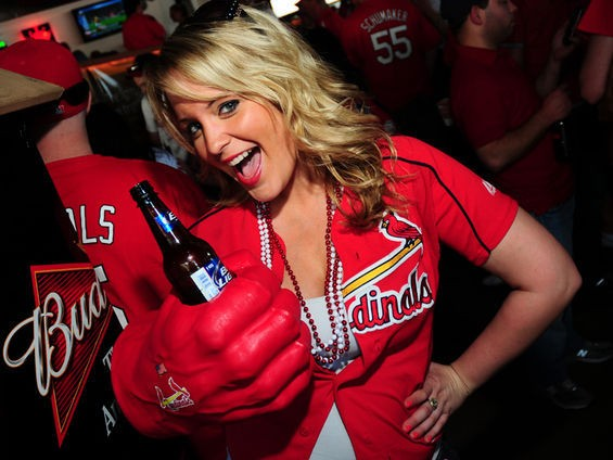 Sorry, ma'am, no jerseys allowed in Ballpark Village unless it's a game day. - EGAN O'KEEFE