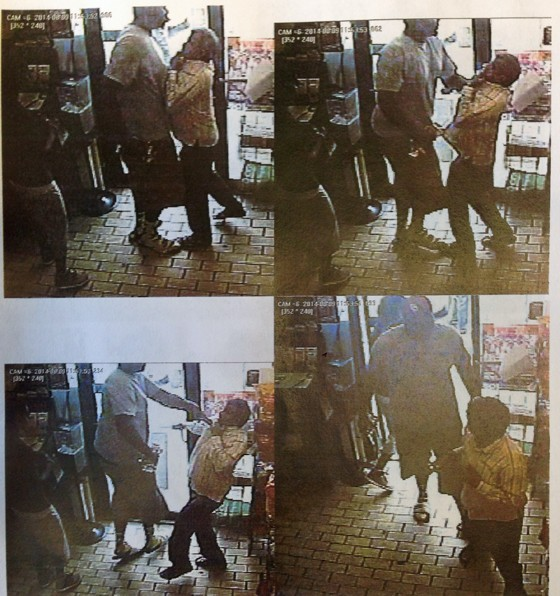 Police say that the suspect grabbed the store manager by the shirt and forcefully pushed him back before exiting the store with stolen cigars.