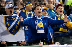 Bosnia fans cheer. - RIVERFRONT TIMES
