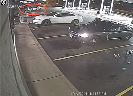 A screenshot of surveillance footage showing the police shooting of Antonio Martin. - ST. LOUIS COUNTY POLICE VIA YOUTUBE