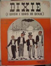 """""""Dixie"""" came out of blackface minstrel shows in the mid-19th Century. - IMAGE VIA"""