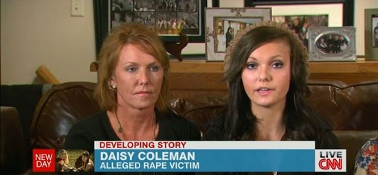 Daisy Coleman and her mother during a CNN interview on Tuesday.
