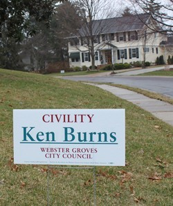 """Ken """"Civility"""" Burns wins a spot on the Webster Groves City Council"""
