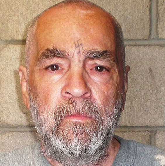 Charles Manson's booking photo.
