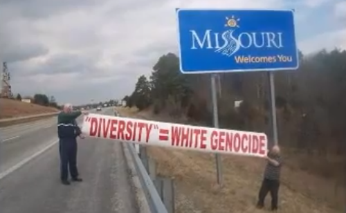 The White Man March reaches Missouri. - YOUTUBE