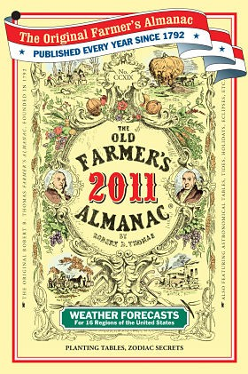 The Old Farmer's Almanac: Don't castrate your animals without it.