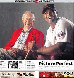 An All-Star Game cover of the Post-Dispatch now for sale on stltoday.com for $19.95.