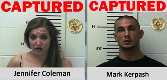 Jennifer Coleman and Mark Kerpash. - LINCOLN COUNTY SHERIFF