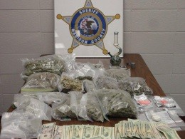 Madison County Sheriff found a fat stash of drugs over the weekend