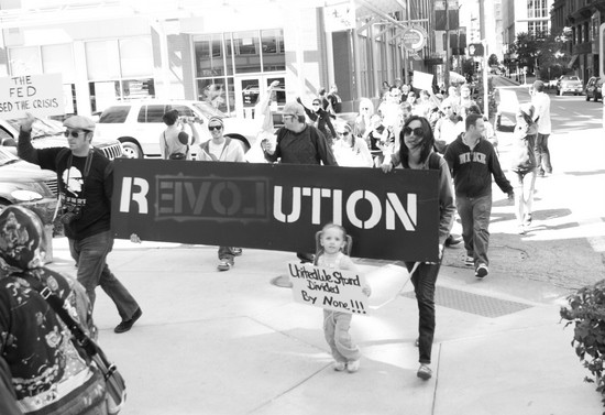 Protesters walk through downtown St. Louis on Saturday. - PHOTOS COURTESY OF BRIAN VILLA
