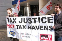 Tax haven protests in New Jersey last month. - FLICKR.COM/PHOTOS/UP YOUR EGP