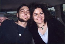 Halliday with her boyfriend Josh Rogers in happier times. Rogers died of a heroin overdose in May 2011.