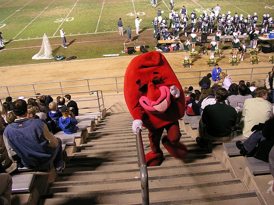 We're not sure what this mascot is supposed to be. A kidney? A jellybean? - GEORGEBOVARD VIA FLICKR