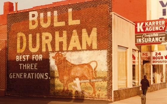 A wall sign in Collinsville, Illinois, as captured in 1983.