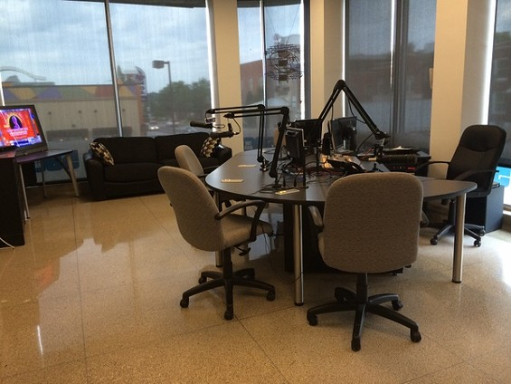 The 590 AM studio where Brian McKenna usually hosts his radio show, The Alpha Males, is now empty during the morning drive time. - LINDSAY TOLER