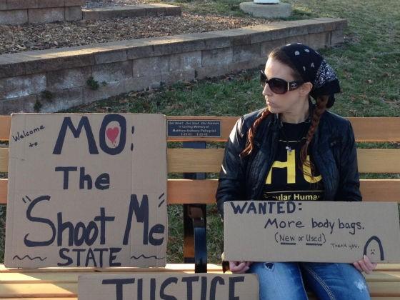 Nikki Moungo at the gun-control rally. - COURTESY OF MOUNGO
