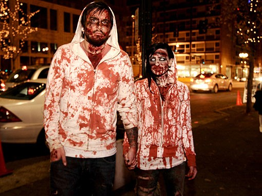 Fans of Zombieland. See more photos from last night. - PHOTO: EGAN O'KEEFE