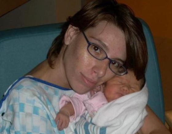 Jessica Howell's still-operating Facebook profile shows her cradling her daughter, Ashlynn Lillith Peters. - FACEBOOK