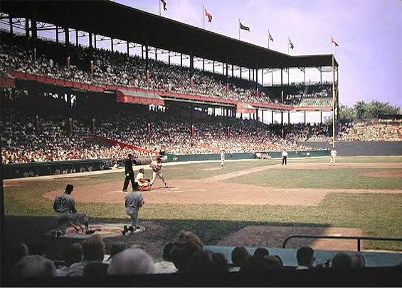 Major league baseball was played at the corner of Grand Avenue and Dodier Street until 1966 when Sportsman's Park was demolished. - IMAGE VIA