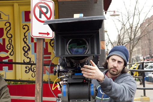 Up in the Air director Jason Reitman on set.