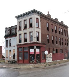Brick thieves, then the wrecking ball: The old corner grocery at 2858 St. Louis Avenue is no longer.
