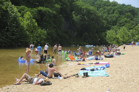 Camp Zoe back in its Schwagstock glory days. - JIMMY TEBEAU