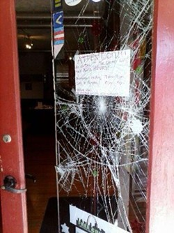 Thieves broke in through the front door. - LGBT CENTER OF ST. LOUIS