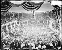 The 1916 Democratic convention held in the old St. Louis Coliseum.