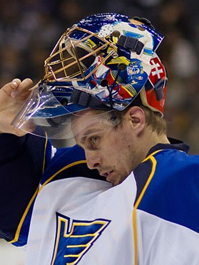 Jaroslav Halak, for good or ill, will have the biggest hand in determining the fate of the Blues' season. - COMMONS.WIKIMEDIA.ORG
