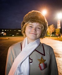 Russia from Hetalia, embodied by Elise Z. See? Yaoi's totally harmless! - JENNIFER SILVERBERG