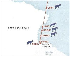 The southernmost aeronautical waypoints between Antarctica and New Zealand, renamed by Col. Ronnie Smith. - NATIONAL GEOGRAPHIC