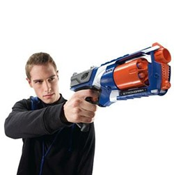 Police believe the suspect might have used a Nerf Blaster model similar to the one shown here. - VIA NERF