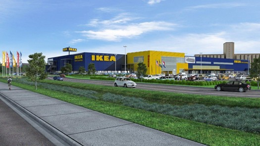 A rendering of the future IKEA St. Louis. - IKEA