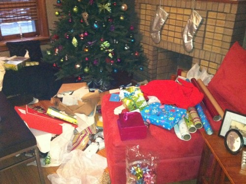 Thieves ransack the Plummers Christmas gifts. - PHOTOS BY AMY JO PLUMMER