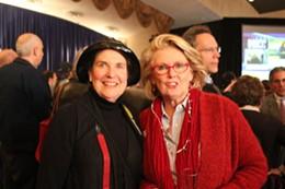 McCaskill's doppleganger with friend Nancy Kennedy, left. - LEAH GREENBAUM