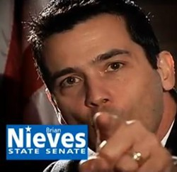 Nieves in a campaign commercial telling Barack HUSSEIN Obama to go 'eff himself. - YOUTUBE