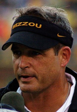 Gary Pinkel has to be pleased with the state of his team at midseason. - COMMONS.WIKIMEDIA.ORG