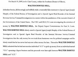 Click here for a .pdf of Walter Hill's indictment