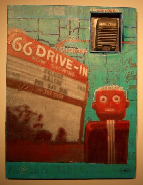 66 Drive-In, from Past/Passed: New Work by Robot at Mad Art. - COURTESY OF THE ARTISTS.