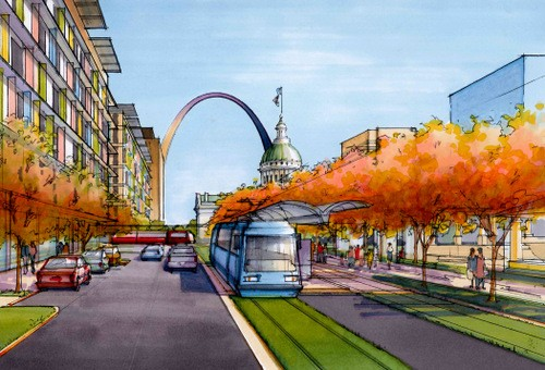 Here's what the St. Louis Streetcar could look like downtown. - DOWNTOWN STL