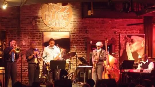 East St. Louis Senior High's Miles to go Jazztet had the crowd bouncing at BB's Jazz, Blues and Soups. - ALBERT SAMAHA