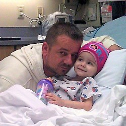 Dzevad Dizdarevic and his daughter, Ariana, who suffers from a very rare cancer. - PHOTOS FROM FACEBOOK