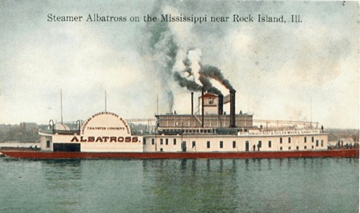 "A postcard of the ""Albatross"" that became the ""Admiral"". - WWW.USGENNET.ORG/USA/MO/COUNTY/STLOUIS/ADMIRAL.HTM"
