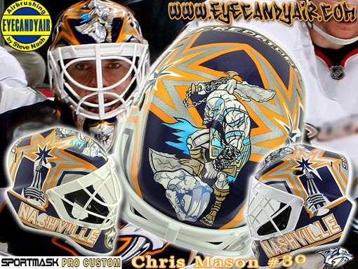 Chris Mason may not have many wins, but he fucking dominates the world of airbrushed goalie masks - EYECANDYAIR.COM