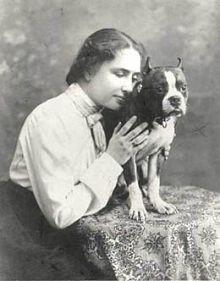 Helen Keller owned a pitbull named Sir Thomas. - WIKIMEDIA COMMONS