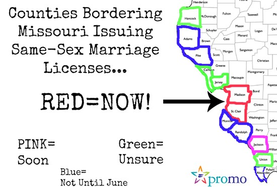 Here are the counties allowing same-sex marriage before June 1. - PROMO MISSOURI