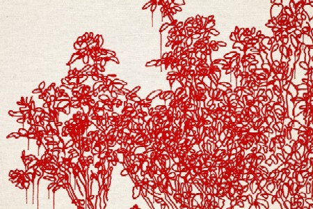 Detail from Red Rose III, part of Rose is a rose is a rose is a rose, opening Friday at William Shearburn Gallery. - ANDREW MILLNER