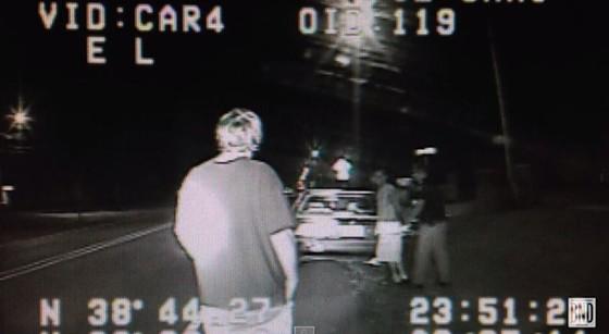 Dash-cam footage showed Highland police officer Charles Allen arresting Patrick Luchtefeld. - BND VIA YOUTUBE