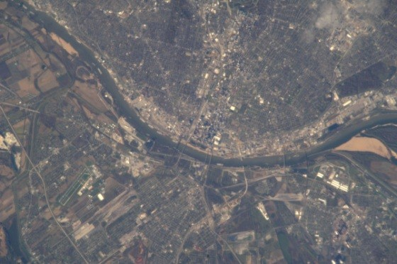 The Gateway City as seen from outer space (in the daytime) - IMAGE VIA